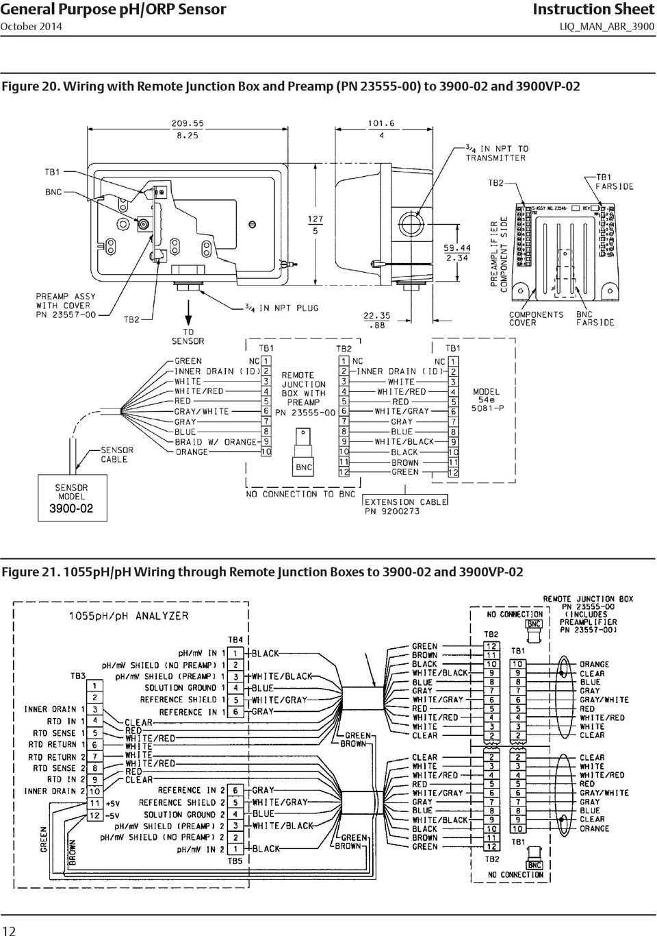 Wiring with Remote Junction Box and Preamp (PN 23555-00) to