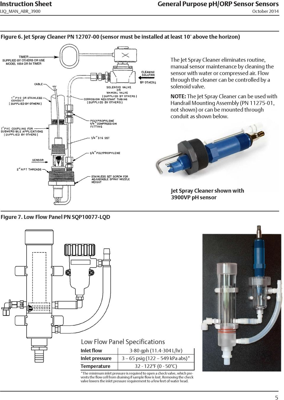 compressed air. Flow through the cleaner can be controlled by a solenoid valve.