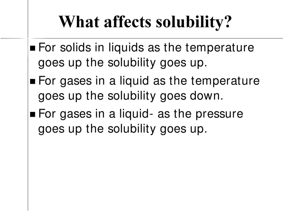 solubility goes up.