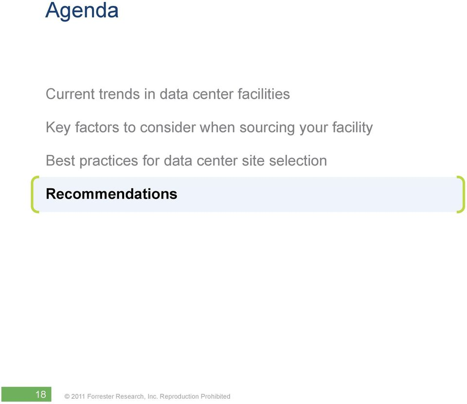 sourcing your facility Best practices