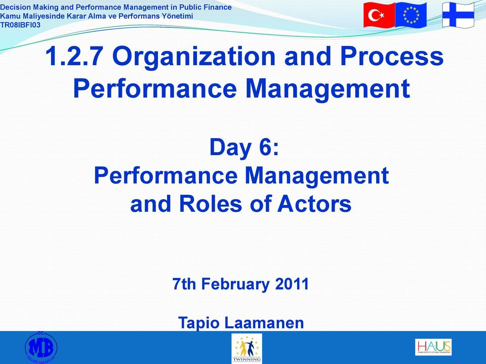 Performance Management and Roles