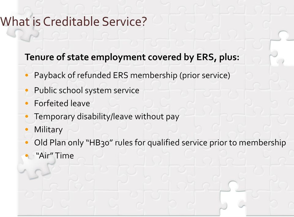 service Forfeited leave Temporary disability/leave without pay