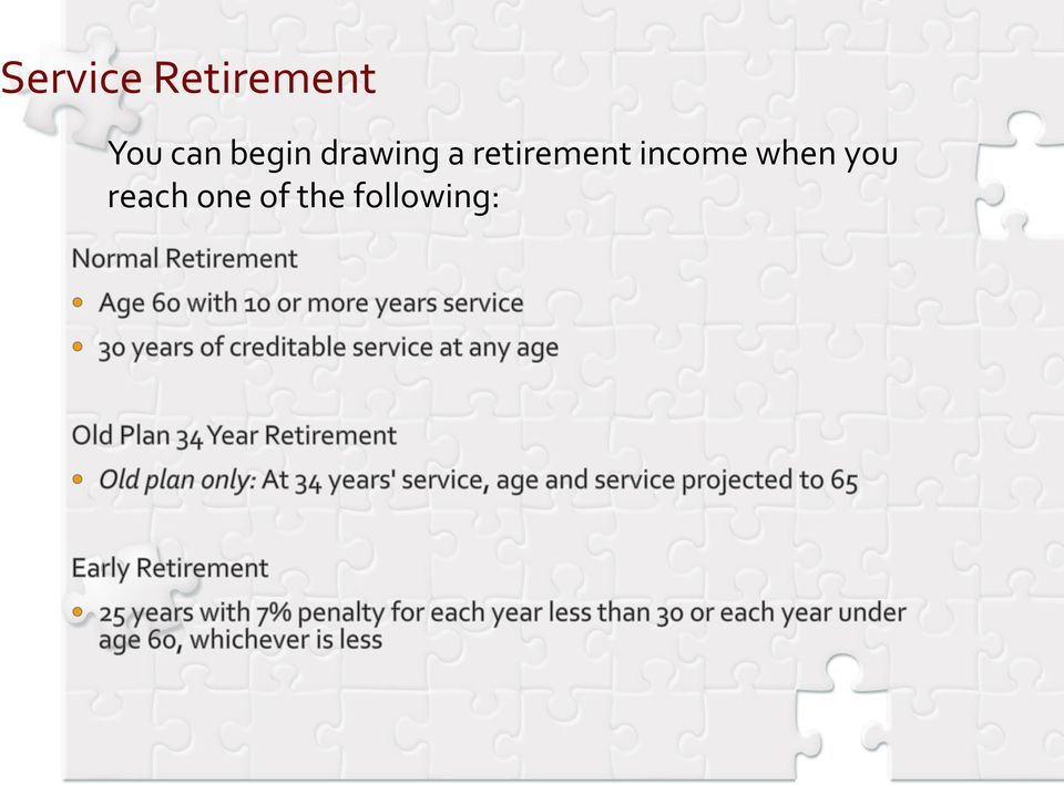 retirement income when