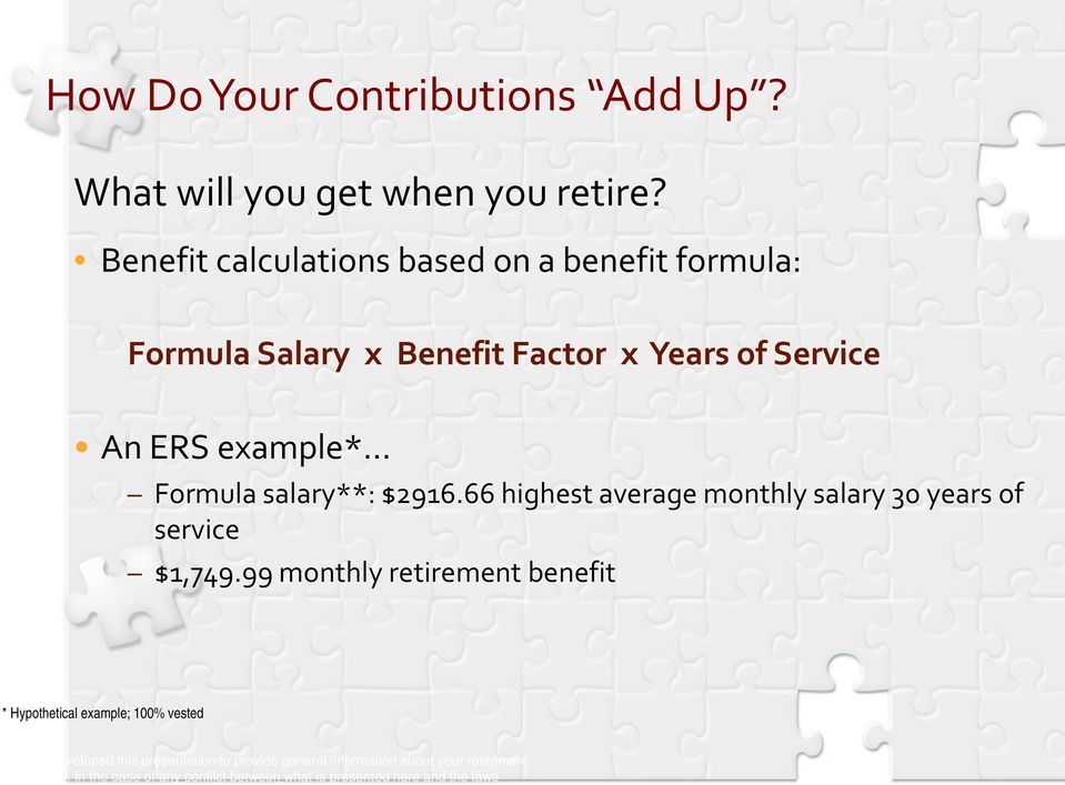 $2916.66 highest average monthly salary 30 years of service $1,749.