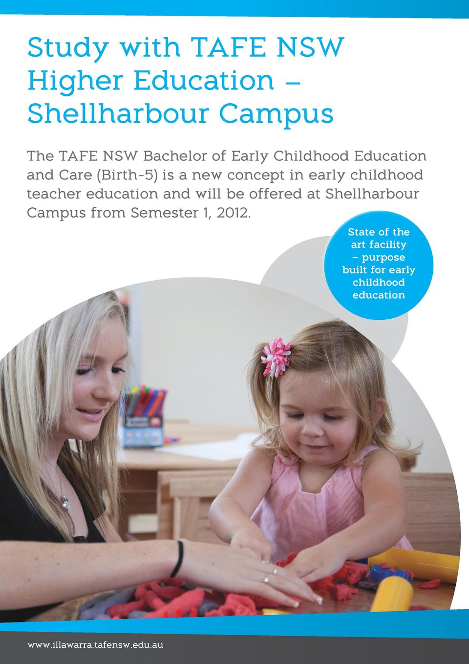 teacher education and will be offered at Shellharbour Campus from Semester 1, 2012.