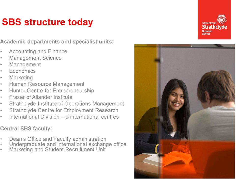 Operations Management Strathclyde Centre for Employment Research International Division 9 international centres Central SBS