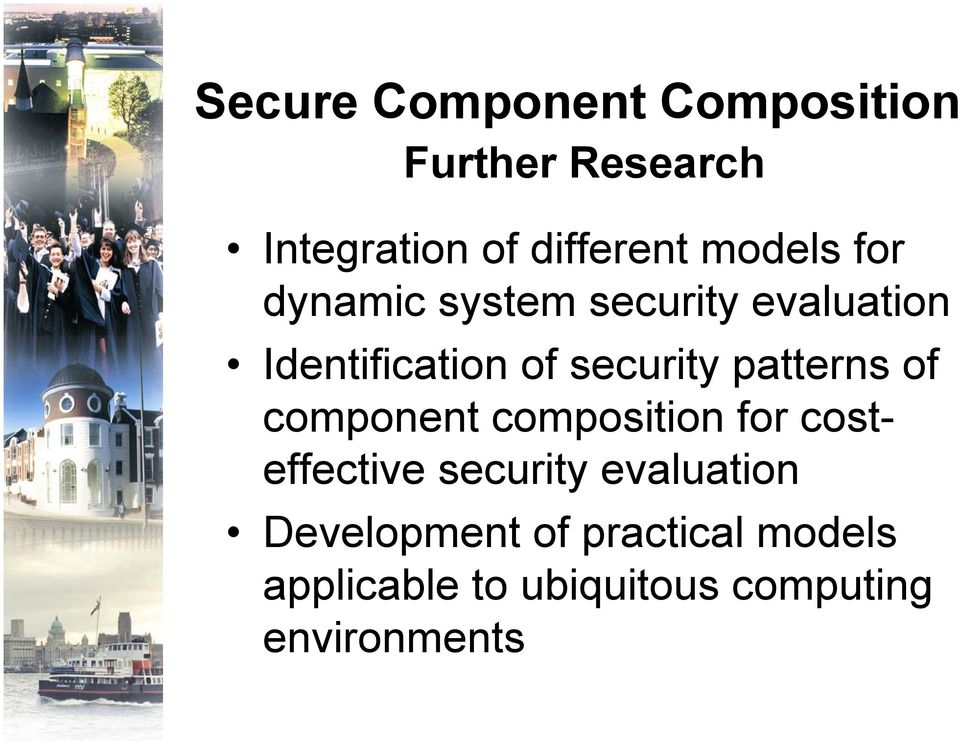 patterns of component composition for costeffective security evaluation