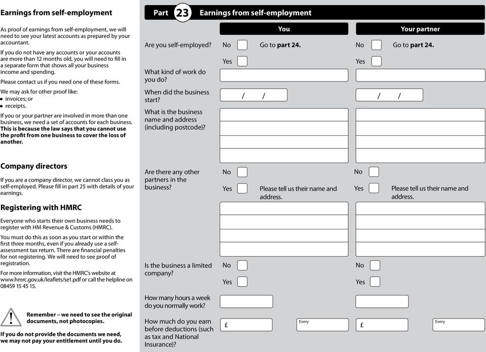 Please contact us if you need one of these forms. We may ask for other proof like: invoices; or receipts.