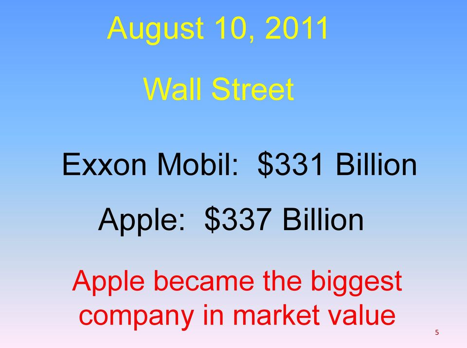 Apple: $337 Billion Apple