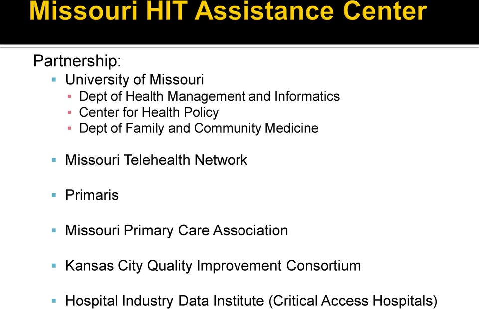 Telehealth Network Primaris Missouri Primary Care Association Kansas City