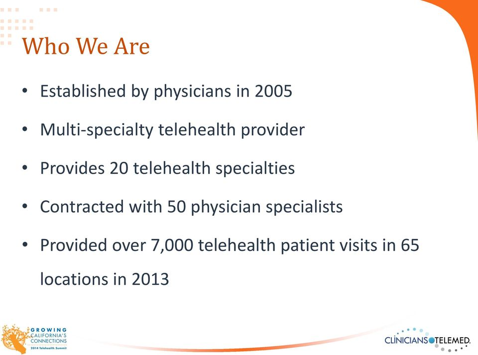 telehealth specialties Contracted with 50 physician