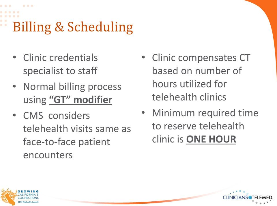 patient encounters Clinic compensates CT based on number of hours utilized for