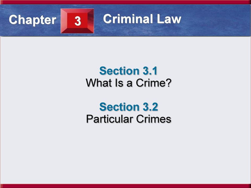 Law Section 3.