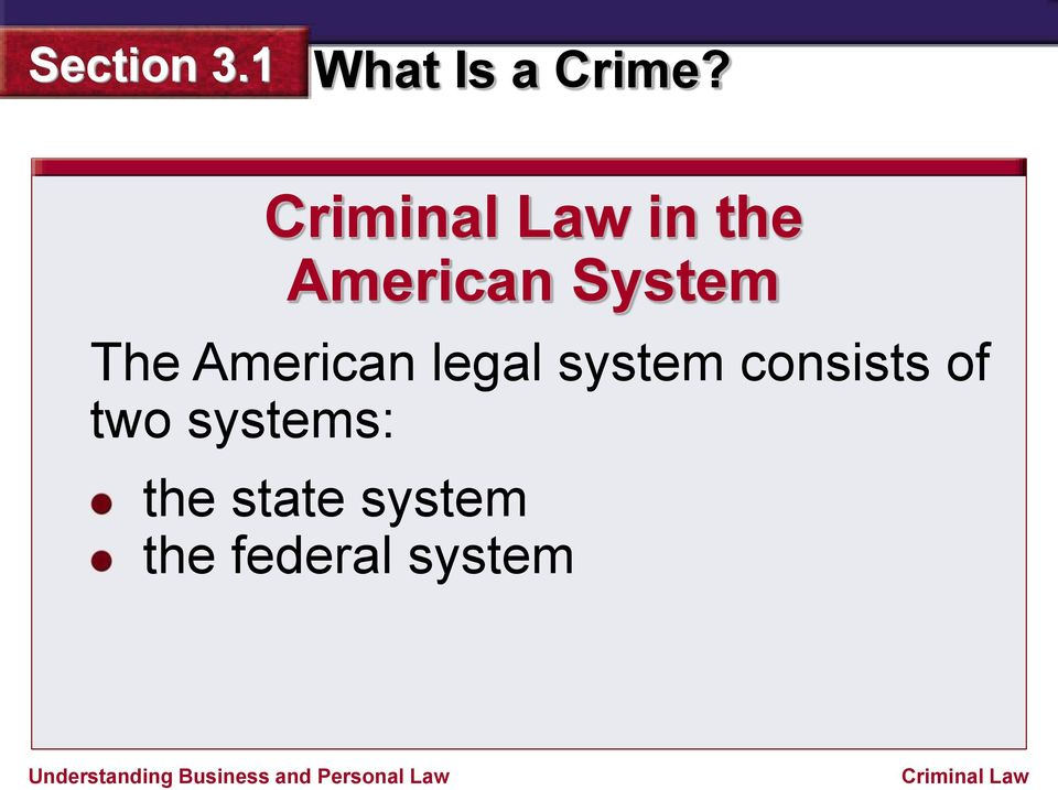 consists of two systems: