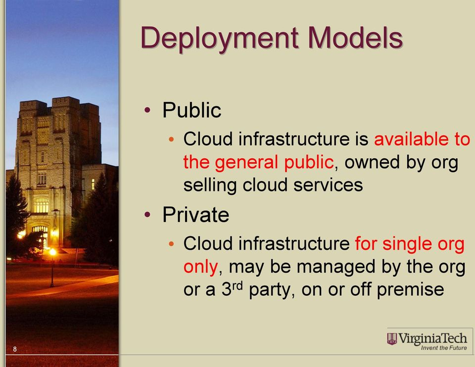 cloud services Private Cloud infrastructure for single