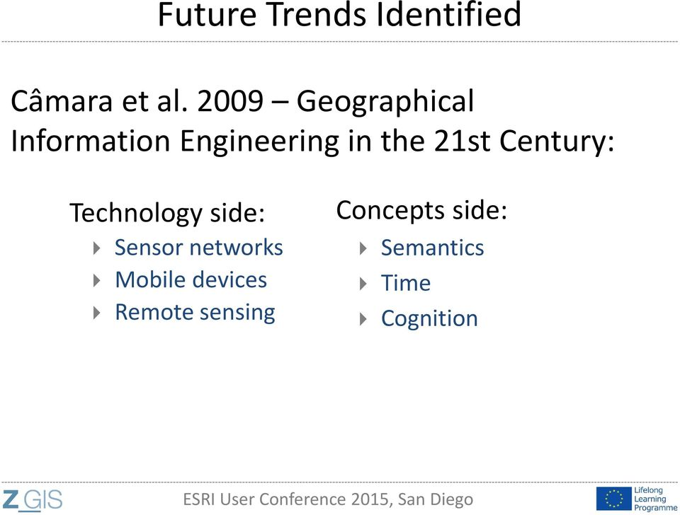 21st Century: Technology side: Sensor networks