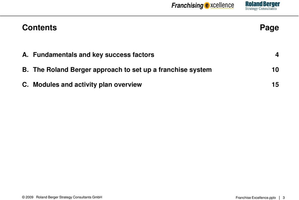 The Roland Berger approach to set up a franchise