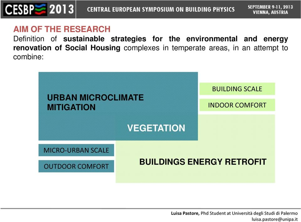 areas, in an attempt to combine: URBAN MICROCLIMATE MITIGATION BUILDING
