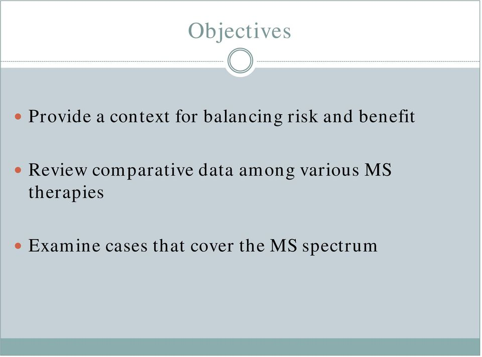 comparative data among various MS