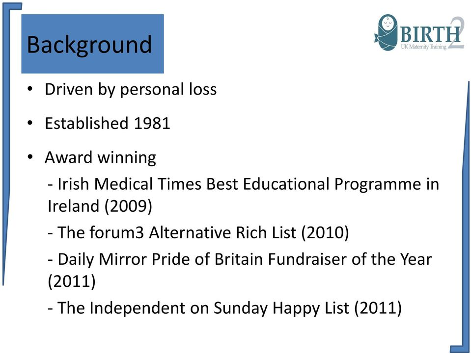 forum3 Alternative Rich List (2010) - Daily Mirror Pride of Britain