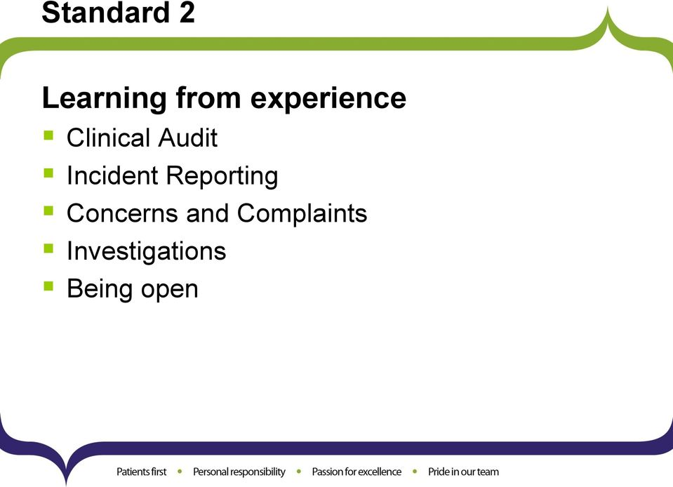 Incident Reporting Concerns