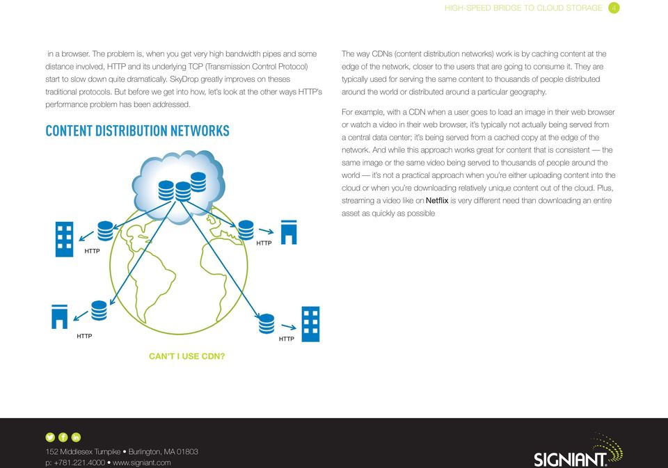 Content Distribution Networks The way CDNs (content distribution networks) work is by caching content at the edge of the network, closer to the users that are going to consume it.