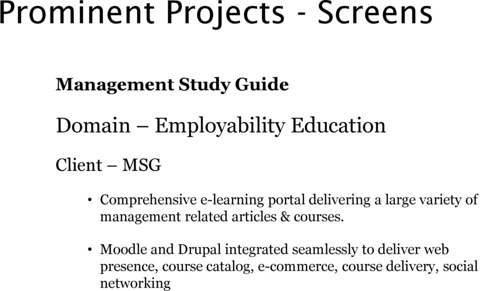 of management related articles & courses.