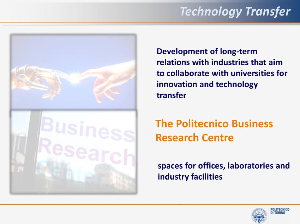 innovation and technology transfer The Politecnico Business