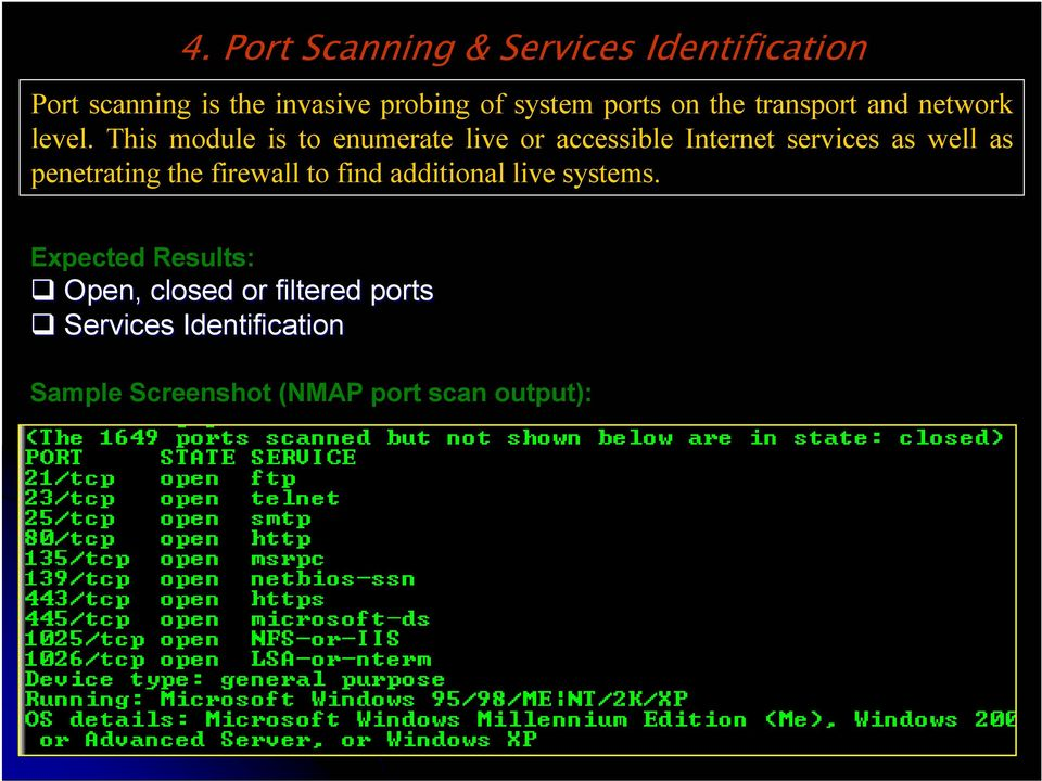 This module is to enumerate live or accessible Internet services as well as penetrating the