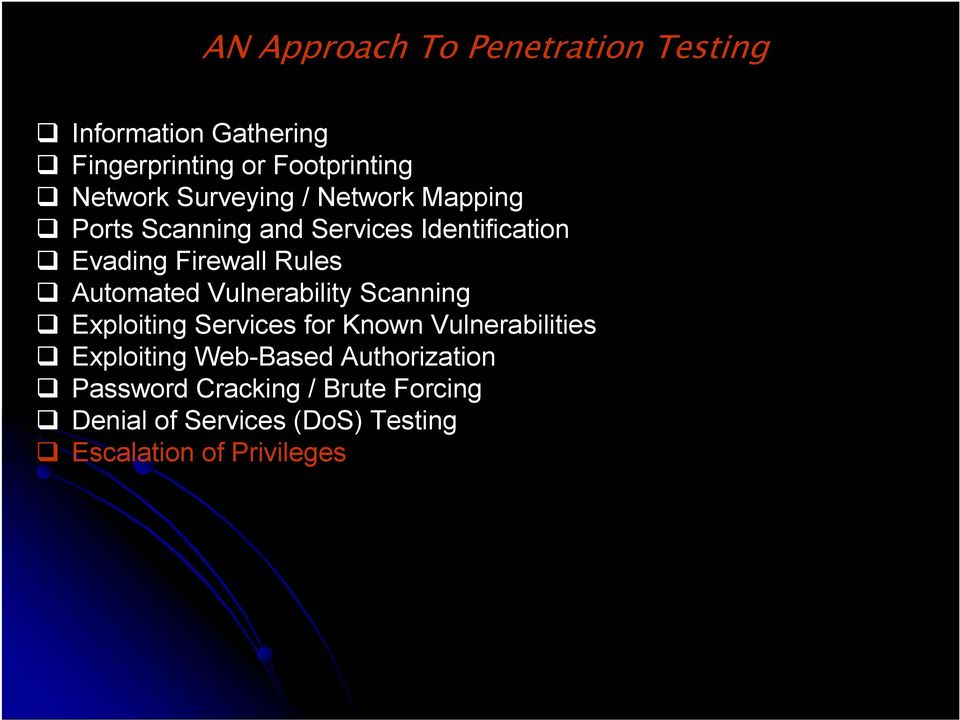 Automated Vulnerability Scanning Exploiting Services for Known Vulnerabilities Exploiting