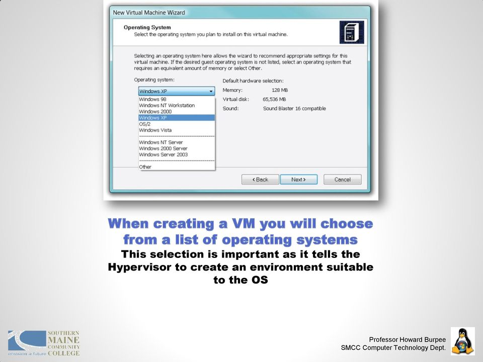is important as it tells the Hypervisor