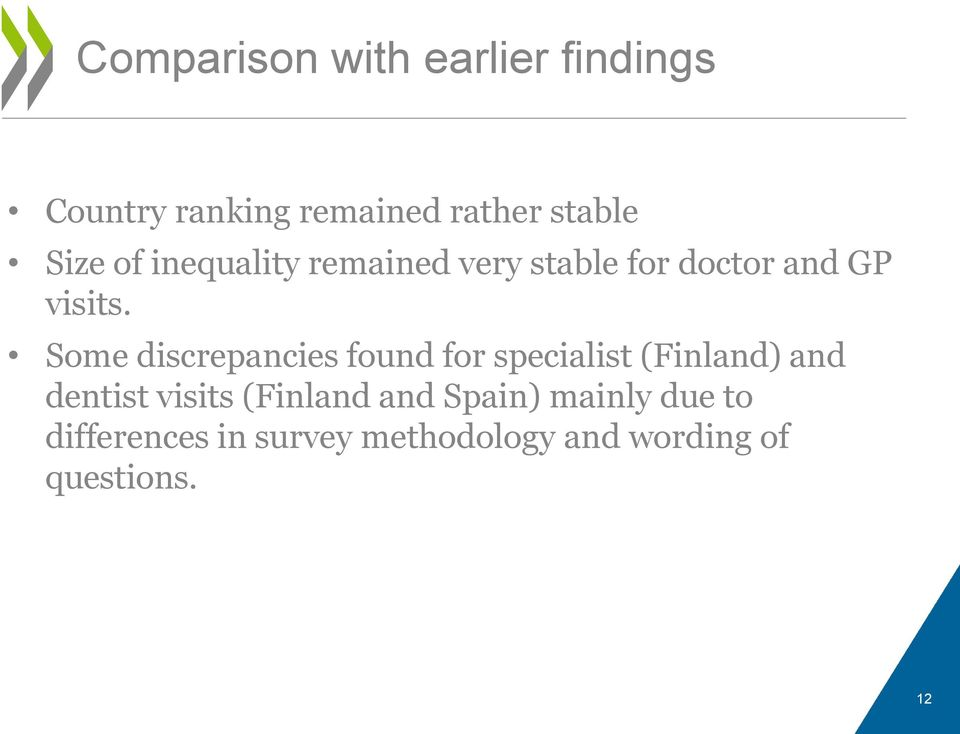 Some discrepancies found for specialist (Finland) and dentist visits