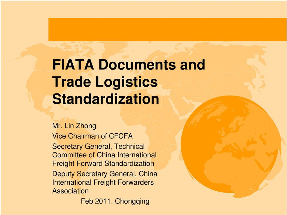 FIATA Documents and Trade Logistics Standardization - PDF