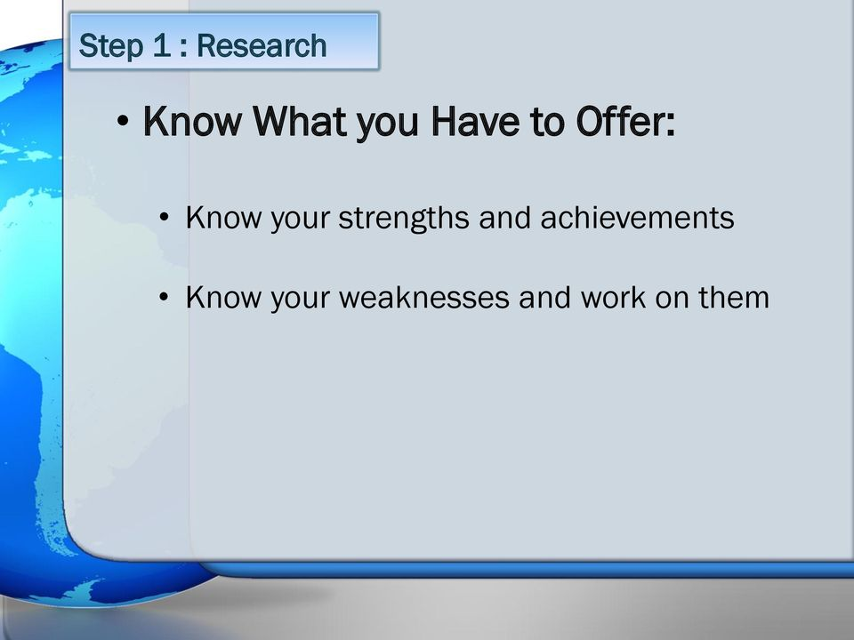 strengths and achievements