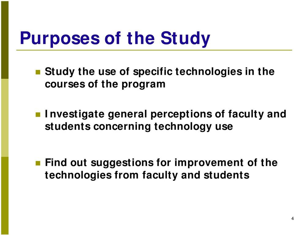 faculty and students concerning technology use Find out