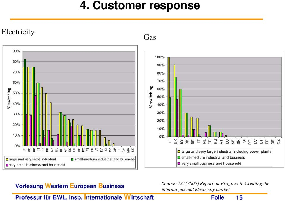 internal gas and electricity market