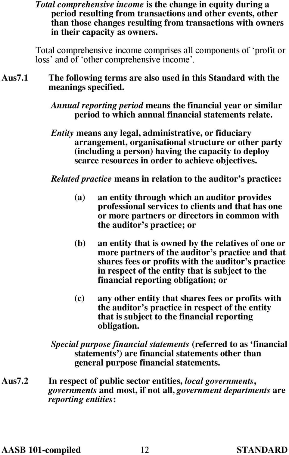 Annual reporting period means the financial year or similar period to which annual financial statements relate.