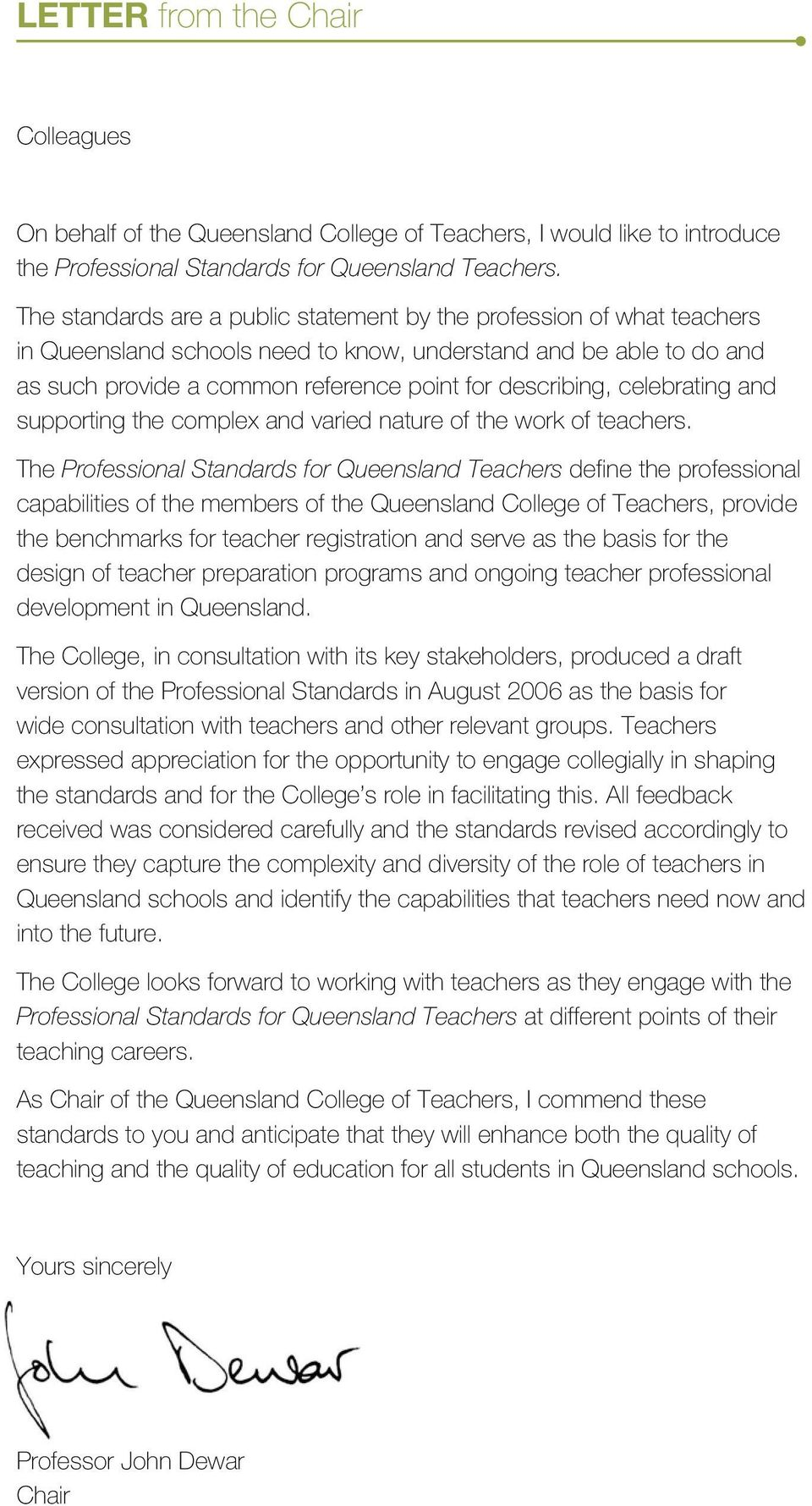 celebrating and supporting the complex and varied nature of the work of teachers.