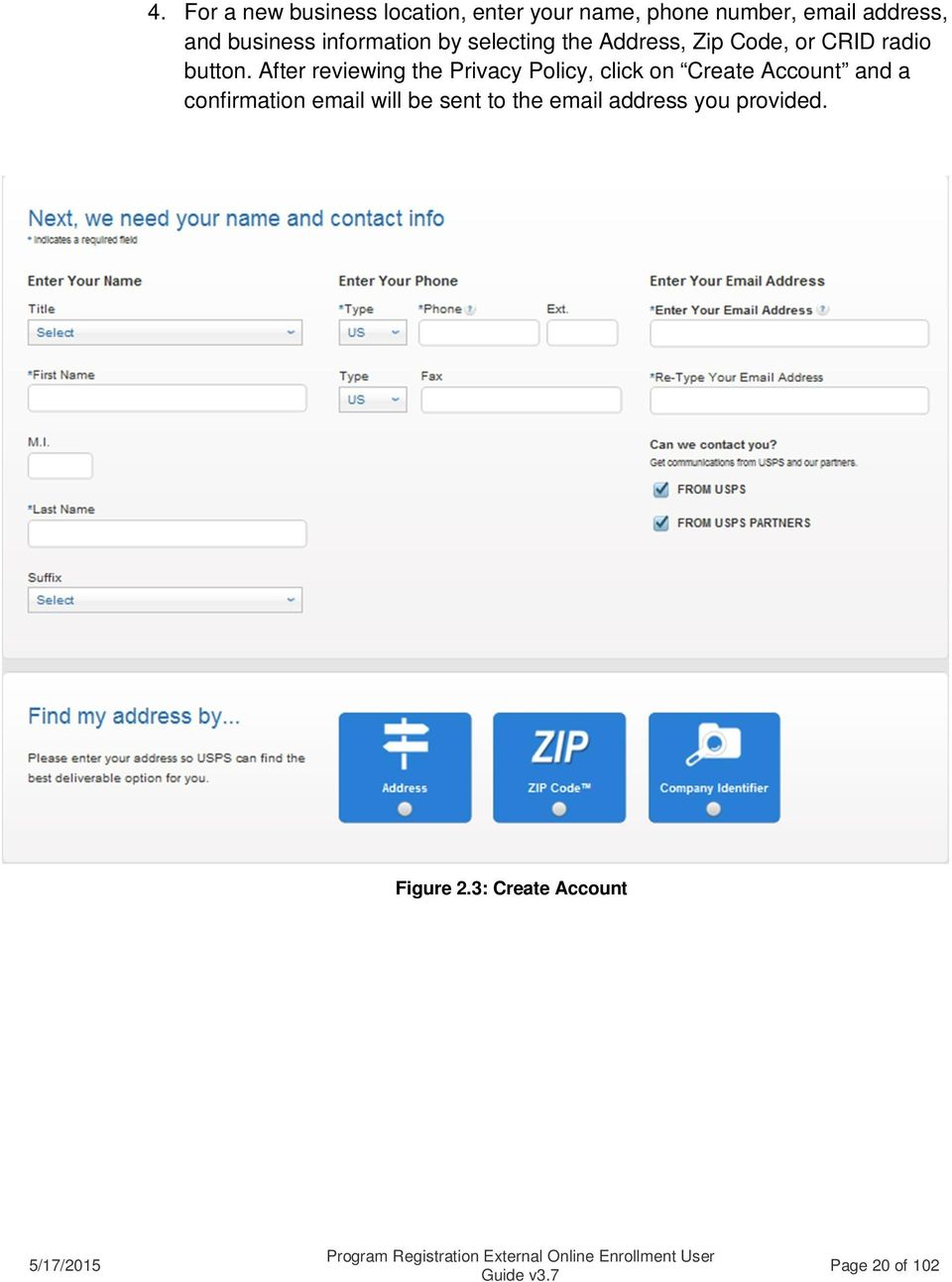 After reviewing the Privacy Policy, click on Create Account and a confirmation