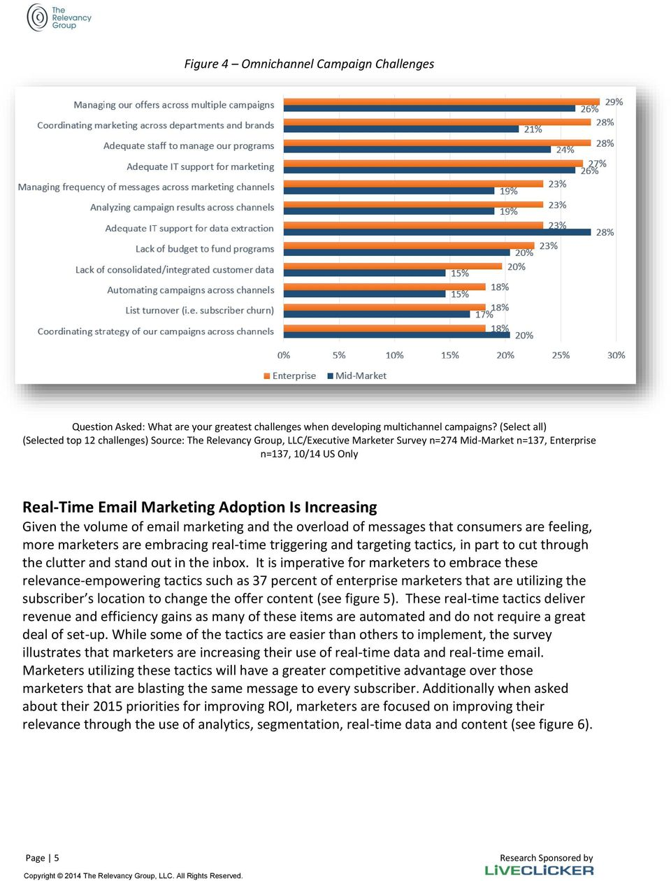 Increasing Given the volume of email marketing and the overload of messages that consumers are feeling, more marketers are embracing real-time triggering and targeting tactics, in part to cut through