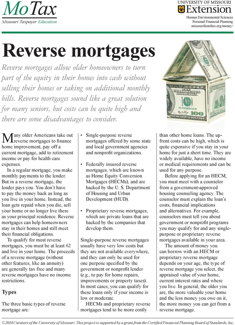 Reverse mortgages sound like a great solution for many seniors, but costs can be quite high and there are some disadvantages to consider.
