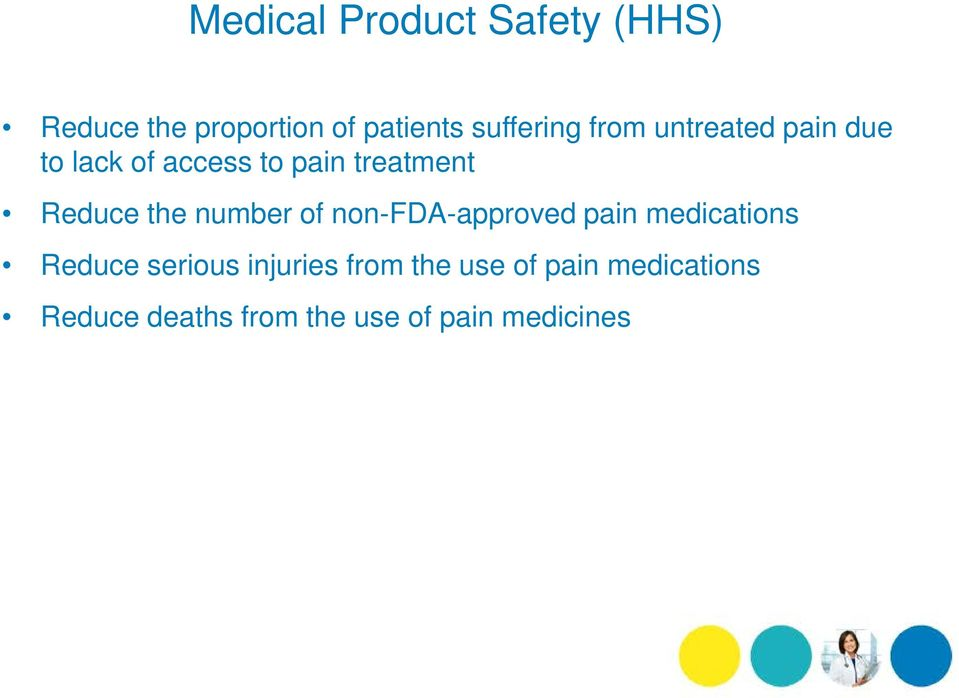 number of non-fda-approved pain medications Reduce serious injuries from