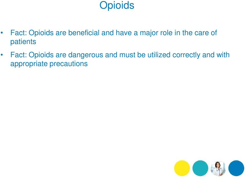 Fact: Opioids are dangerous and must be