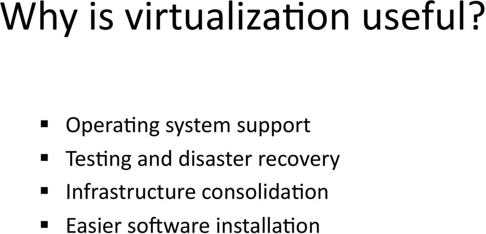 and disaster recovery
