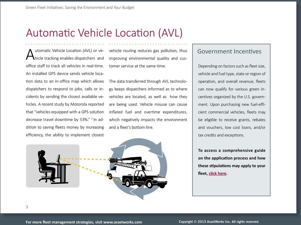 A recent study by Motorola reported that vehicles equipped with a GPS solution decrease travel downtime by 53%.