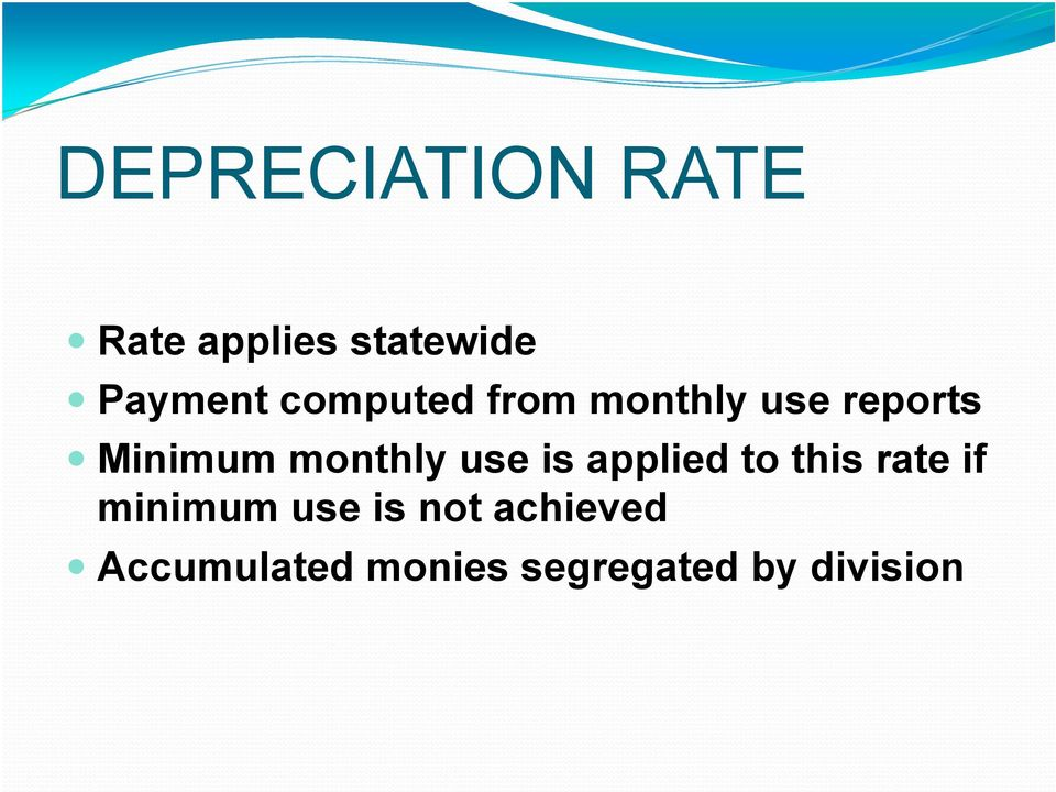 use is applied to this rate if minimum use is not