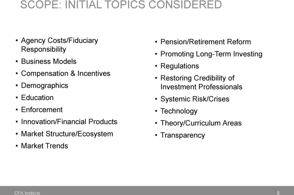 Structure/Ecosystem Market Trends Pension/Retirement Reform Promoting Long-Term Investing Regulations