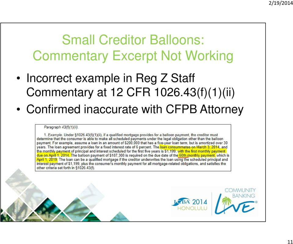 Reg Z Staff Commentary at 12 CFR 1026.