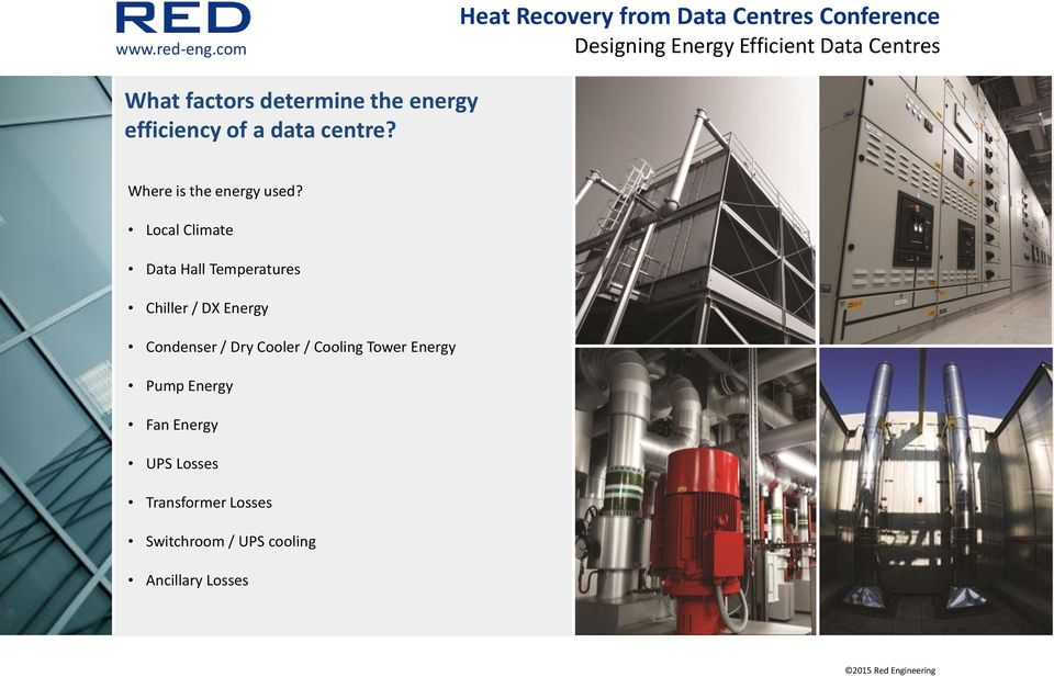 Local Climate Data Hall Temperatures Chiller / DX Energy Condenser /