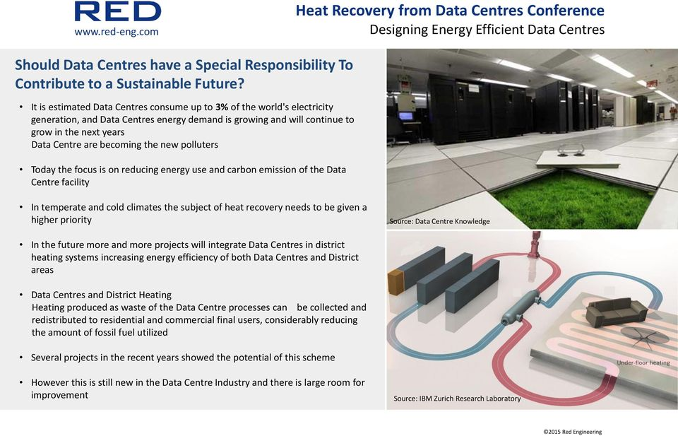 new polluters Today the focus is on reducing energy use and carbon emission of the Data Centre facility In temperate and cold climates the subject of heat recovery needs to be given a higher priority